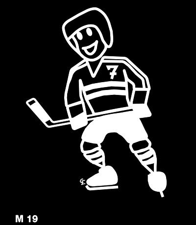 Man spelar ishockey – Funky Family – dekaler i unika karaktärer
