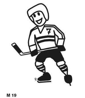 Man spelar ishockey