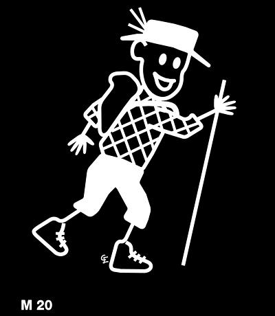 Man vandrar – Funky Family – dekaler i unika karaktärer