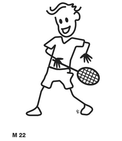Man som spelar tennis