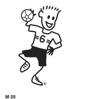 Man som spelar handboll