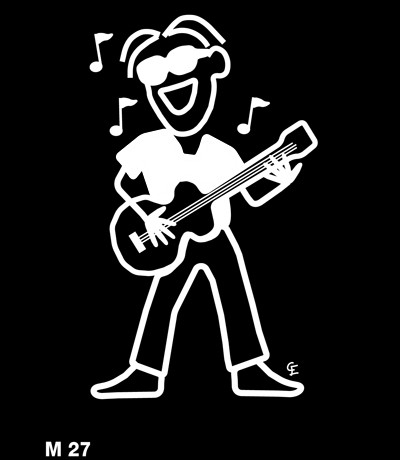 Musiker – Funky Family – dekaler i unika karaktärer