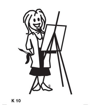 Kvinna målar