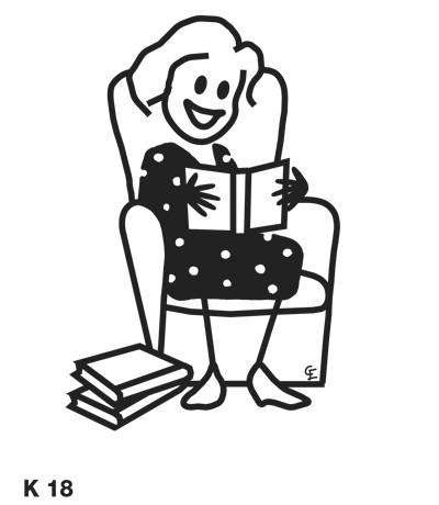 Kvinna som läser