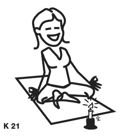 Kvinna som yogar – Funky Family – dekaler i unika karaktärer