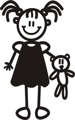 Ung flicka med nallebjörn