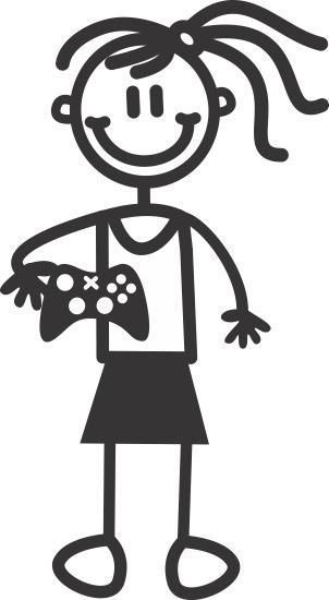 Flicka med spelkontroll