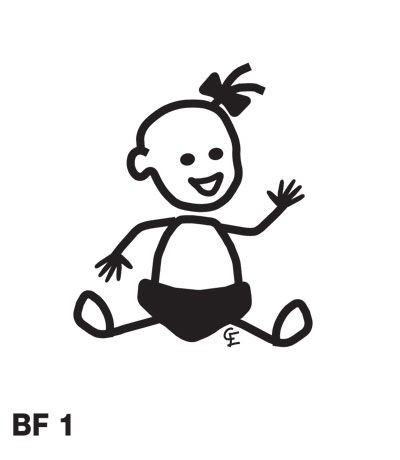 Bebisflicka – Funky Family – dekaler i unika karaktärer