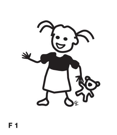 Flicka med docka