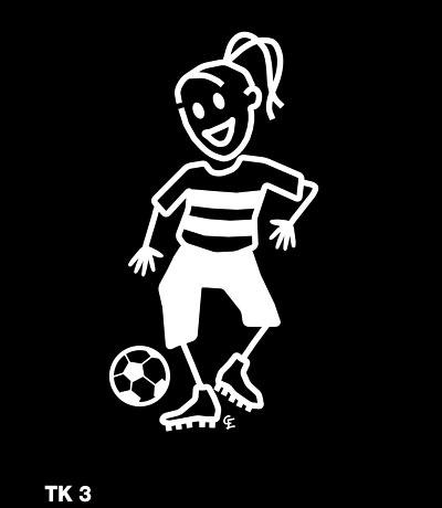 Tjej spelar fotboll – Funky Family – dekaler i unika karaktärer