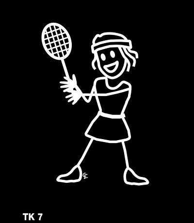 Tjej spelar tennis – Funky Family – dekaler i unika karaktärer