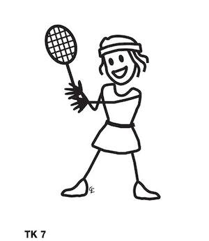 Tjej spelar tennis