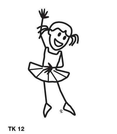 Tjej dansar