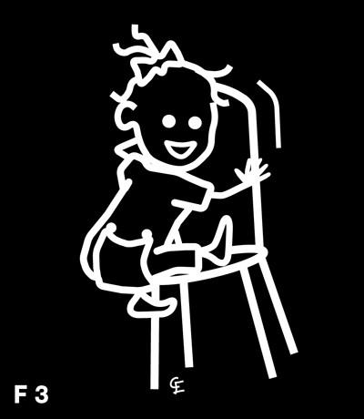 Flicka som klättrar – Funky Family – dekaler i unika karaktärer