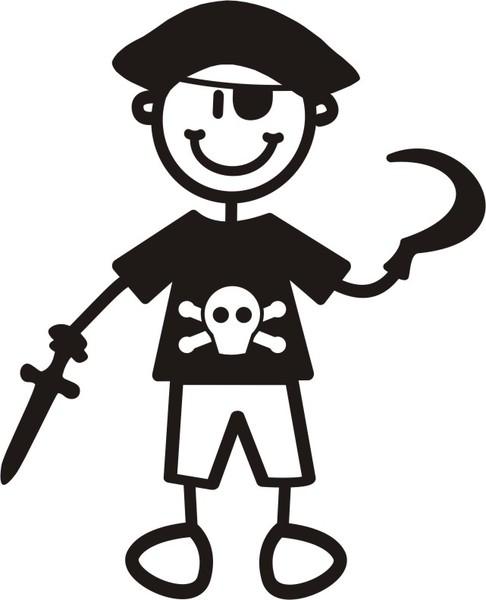 Ung Pojke som pirat