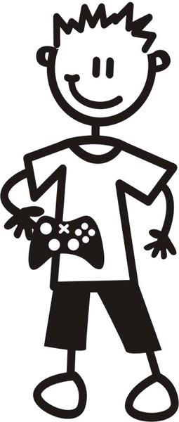 Pojke med spelkontroll