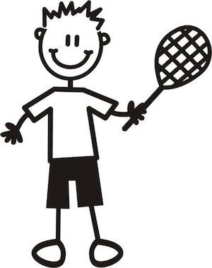 Pojke med tennisrack