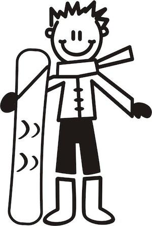 Äldre Pojke med snowboard