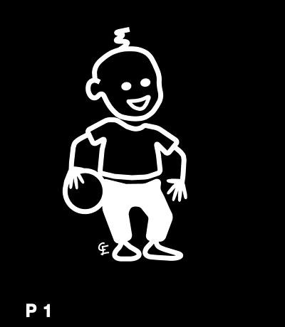 Pojke med boll – Funky Family – dekaler i unika karaktärer