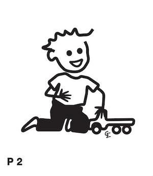 Pojke med traktor