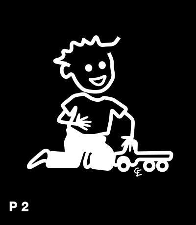 Pojke med traktor – Funky Family – dekaler i unika karaktärer