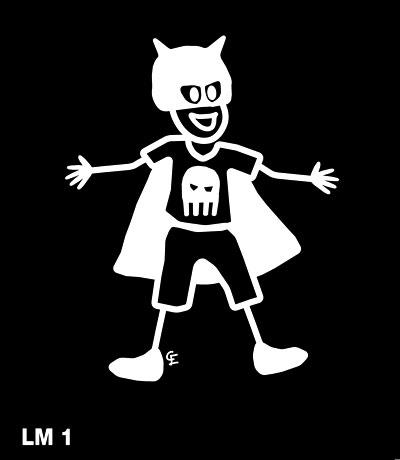 Pojke som superhjälte – Funky Family – dekaler i unika karaktärer