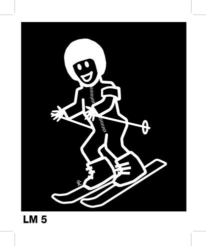 Pojke med skidor - Funky Family - dekaler i unika karaktärer