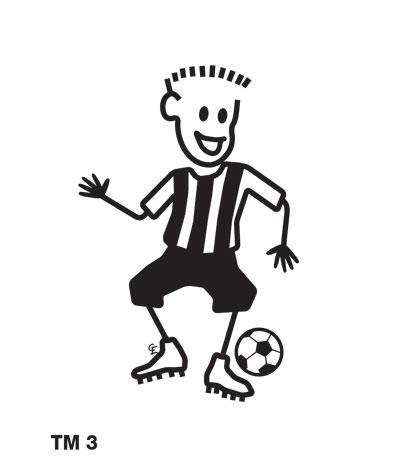 Kille spelar fotboll