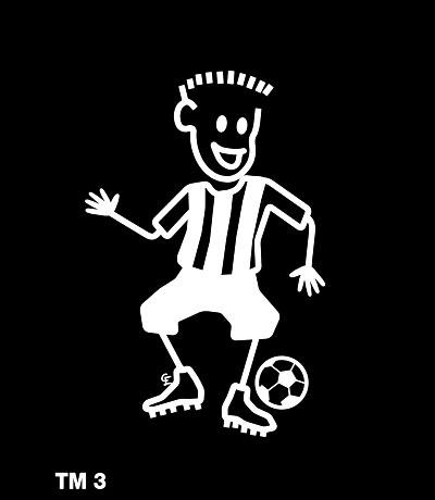 Kille spelar fotboll - Funky Family - dekaler i unika karaktärer