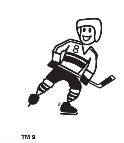 Kille spelar ishockey - Funky Family - dekaler i unika karaktärer