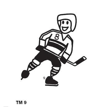 Kille spelar ishockey