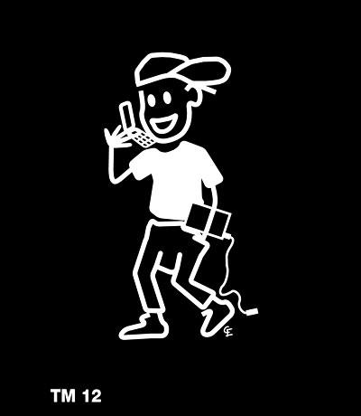 Kille med prylar - Funky Family - dekaler i unika karaktärer