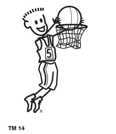 Kille som spelar basket
