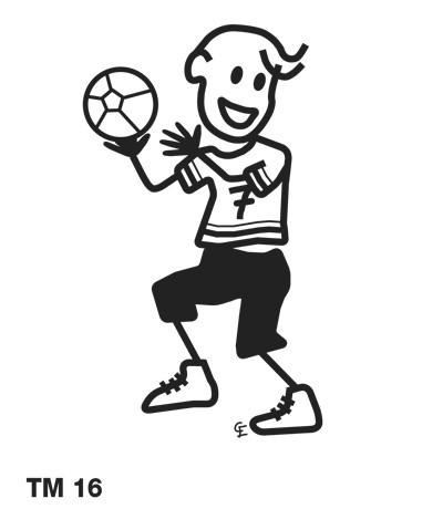 Kille som spelar handboll - Funky Family - dekaler i unika karaktärer