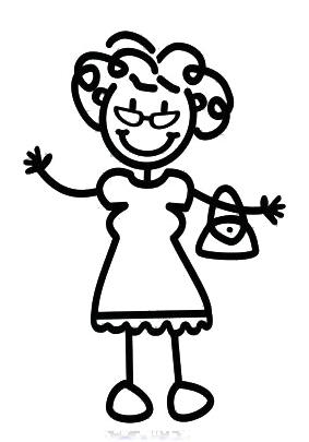 Mormor/farmor med handväska