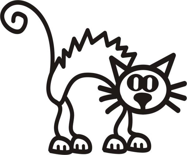 Rädd katt - The sticker family - dekaler i unika karaktärer