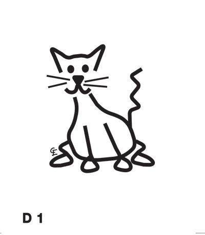 Katt - Funky Family - dekaler i unika karaktärer
