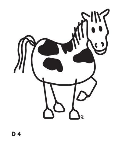 Häst - Funky Family - dekaler i unika karaktärer