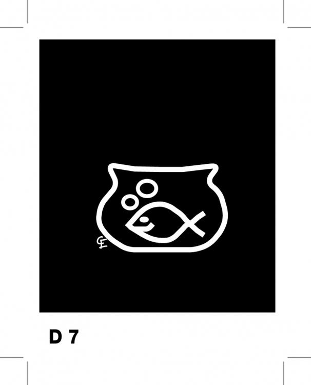 Fisk i skål - Funky Family - dekaler i unika karaktärer