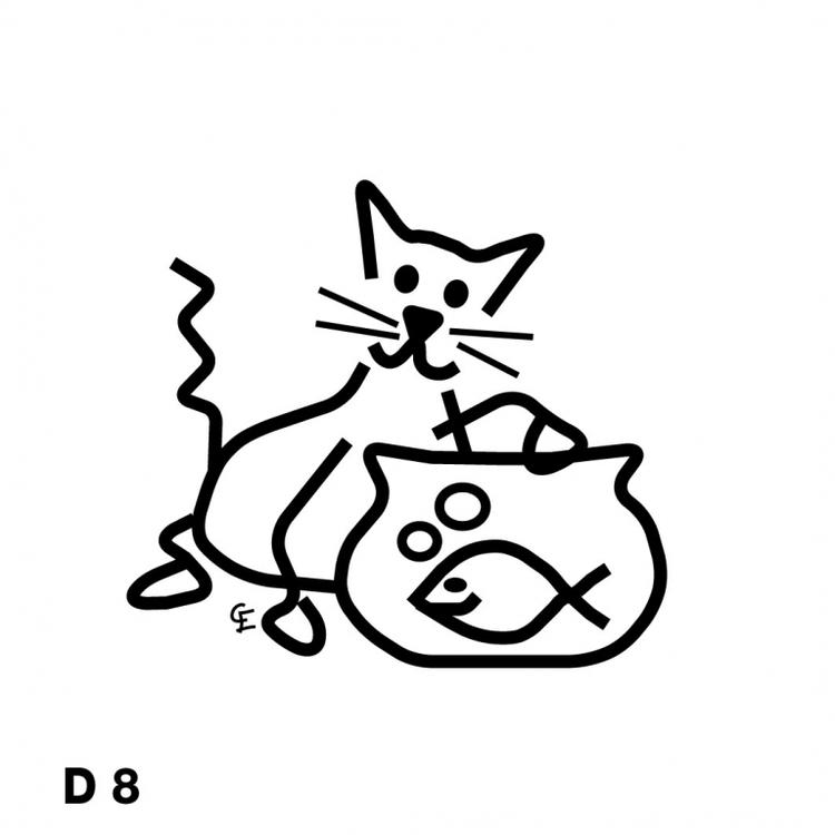 Katt som fiskar