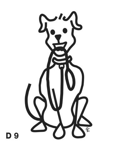 Stor Sittande Hund