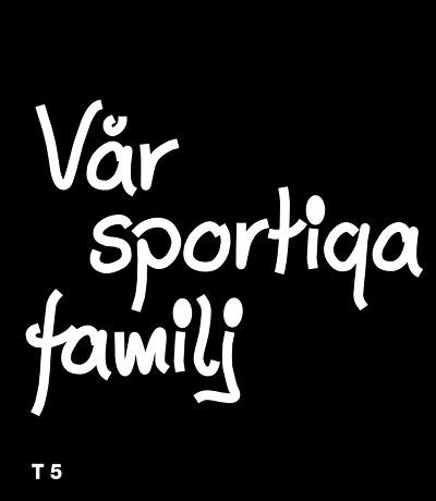 Vår sportiga familj - Funky Family - dekaler i unika karaktärer