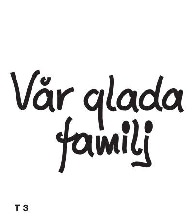 Vår glada familj - Funky Family - dekaler i unika karaktärer