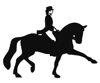 Bildekal Dressage rider 2