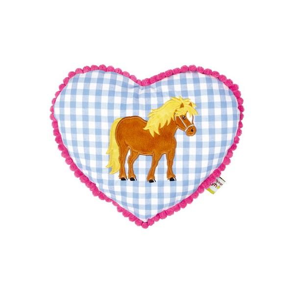 Kudde Hjärta med hästmotiv från Die Spiegelburg