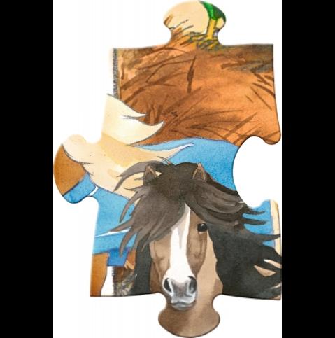 Golvpussel med hästmotiv från Die Spiegelburg