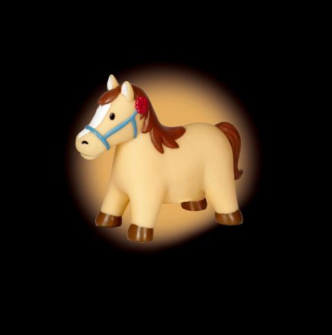 Nattlampa med hästmotiv från Die Spiegelburg