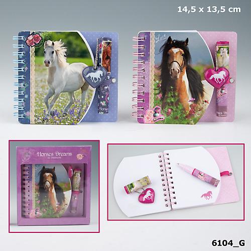 Miniblock med penna Horses Dreams