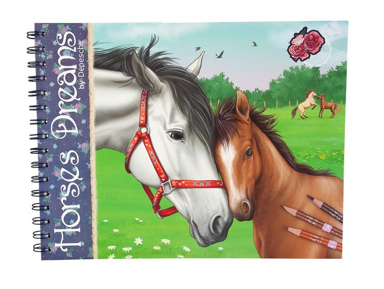 Horses Dreams Målarbok (J)