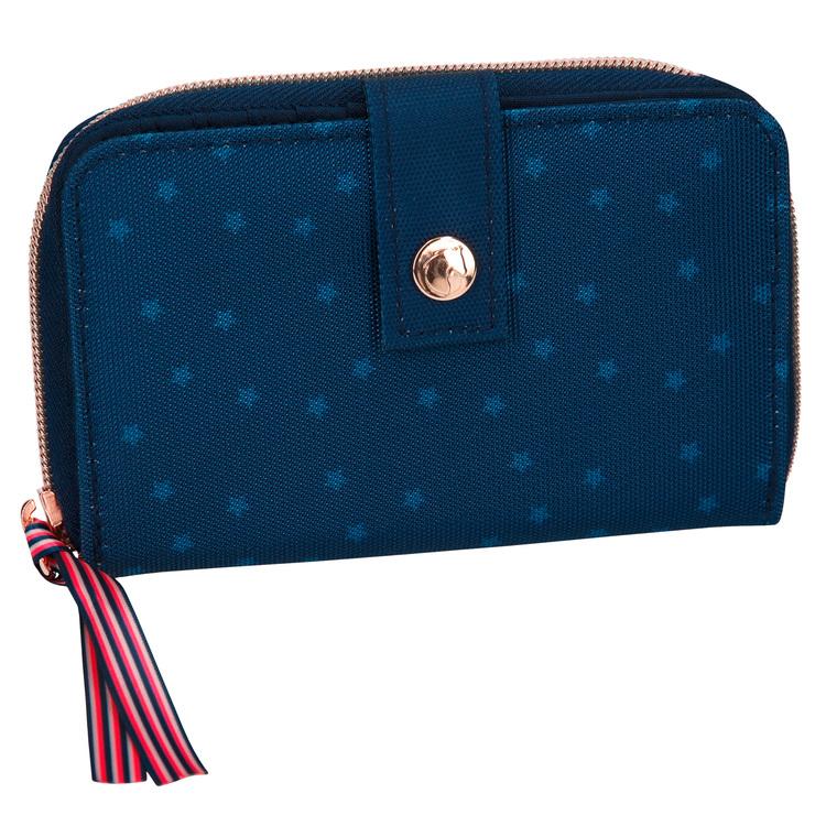 Miss Melody Plånbok blå med paljetter